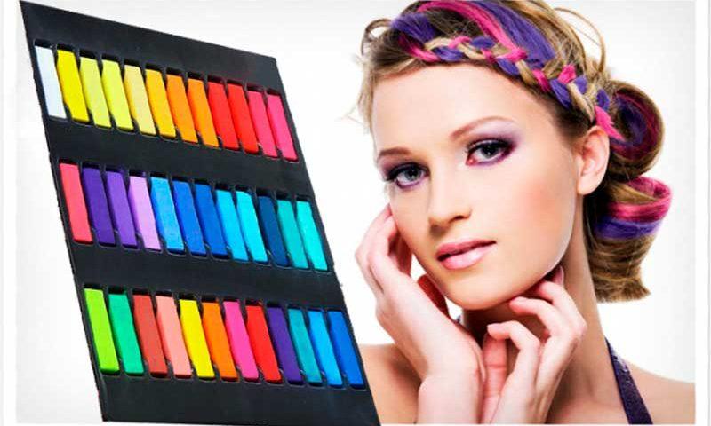 Мелки для волос — яркий образ за считанные минуты
